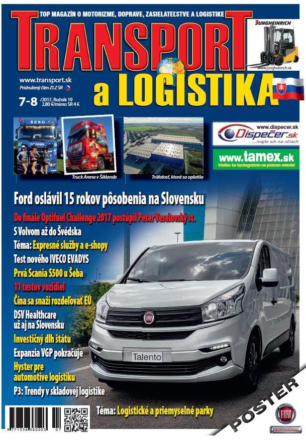 Magazín TRANSPORT a LOGISTIKA - Vydanie 7-8/2017 - Obálka