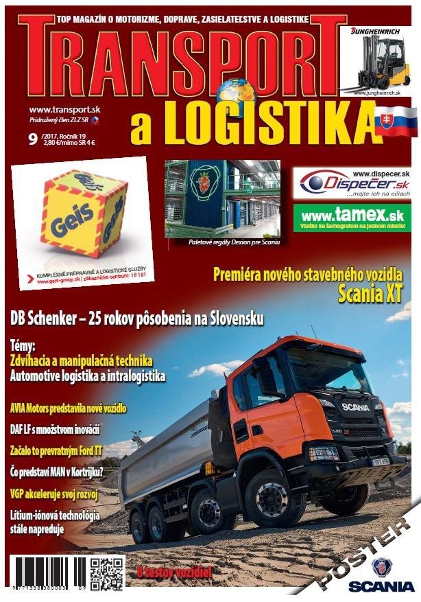 Magazín TRANSPORT a LOGISTIKA - Vydanie 9/2017 - Obálka