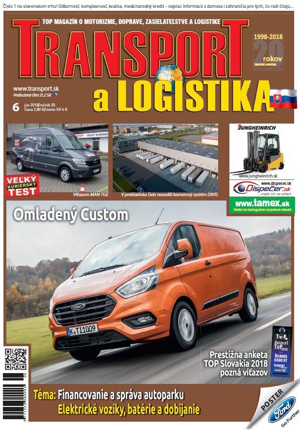 Magazín TRANSPORT a LOGISTIKA - Vydanie 6/2018 - Obálka