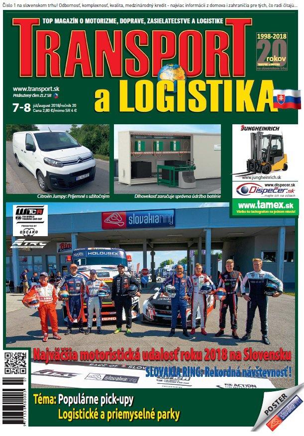 Magazín TRANSPORT a LOGISTIKA - Vydanie 7-8/2018 - Obálka