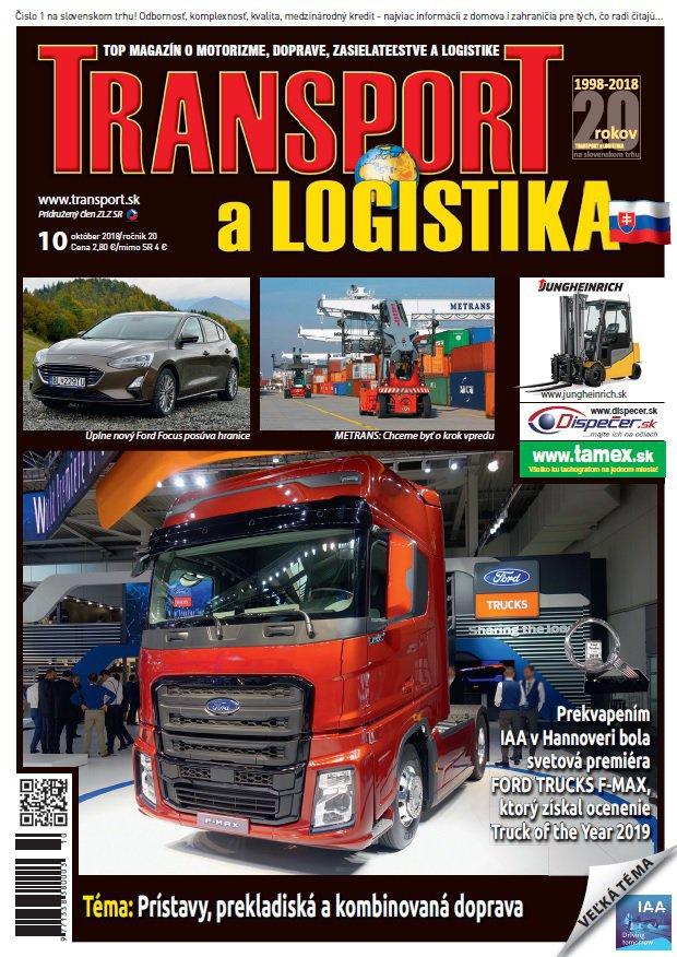 Magazín TRANSPORT a LOGISTIKA - Vydanie 10/2018 - Obálka
