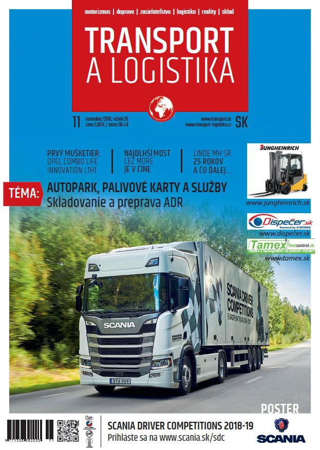 Magazín TRANSPORT a LOGISTIKA - Vydanie 11/2018 - Obálka