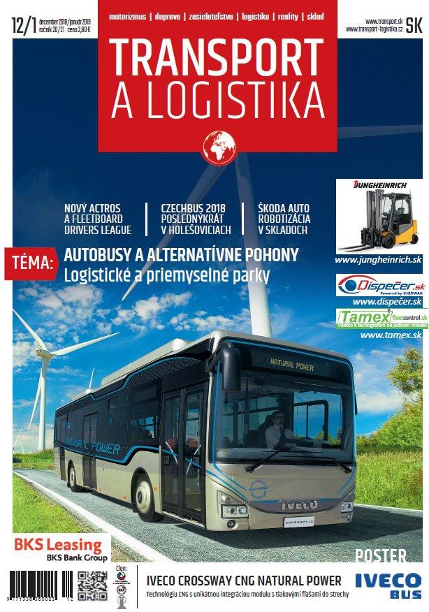 Magazín TRANSPORT a LOGISTIKA - Vydanie 12/2018-01/2019 - Obálka