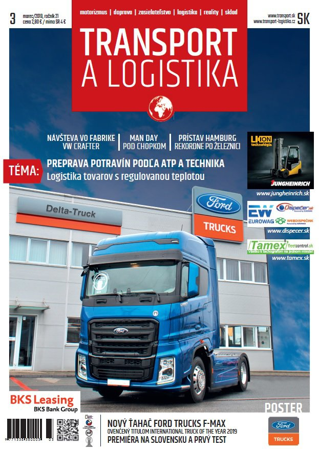 Magazín TRANSPORT a LOGISTIKA - Vydanie 3/2019 - Obálka