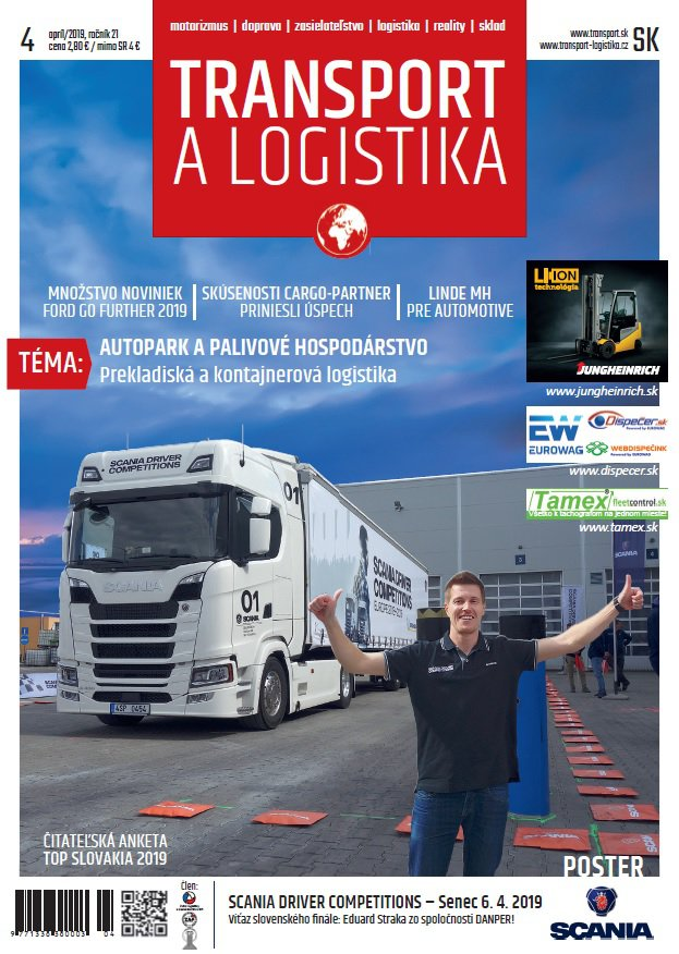Magazín TRANSPORT a LOGISTIKA - Vydanie 4/2019 - Obálka