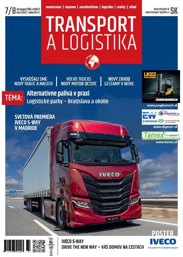 Magazín TRANSPORT a LOGISTIKA - Vydanie 7-8/2019 - Obálka