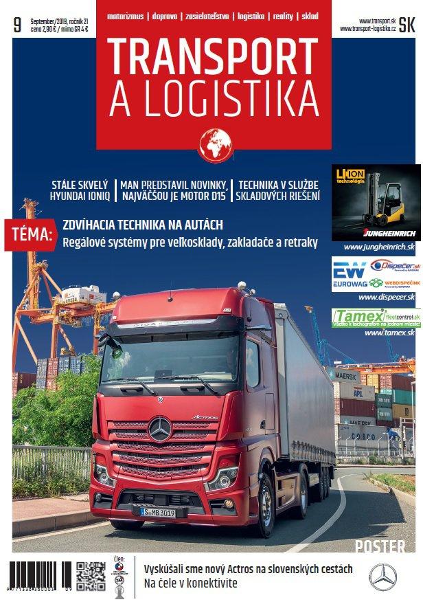 Magazín TRANSPORT a LOGISTIKA - Vydanie 9/2019 - Obálka