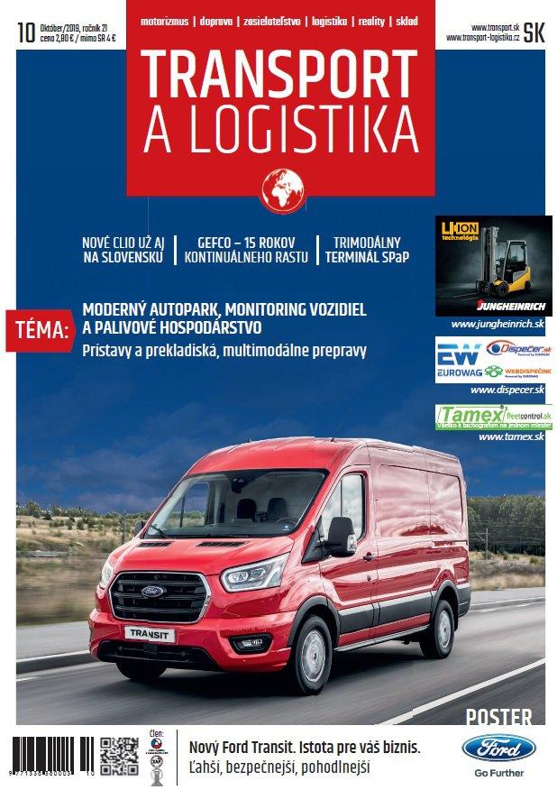 Magazín TRANSPORT a LOGISTIKA - Vydanie 10/2019 - Obálka