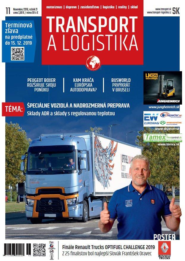 Magazín TRANSPORT a LOGISTIKA - Vydanie 11/2019 - Obálka