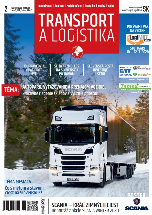 Magazín TRANSPORT a LOGISTIKA - Vydanie 2/2020 - Obálka