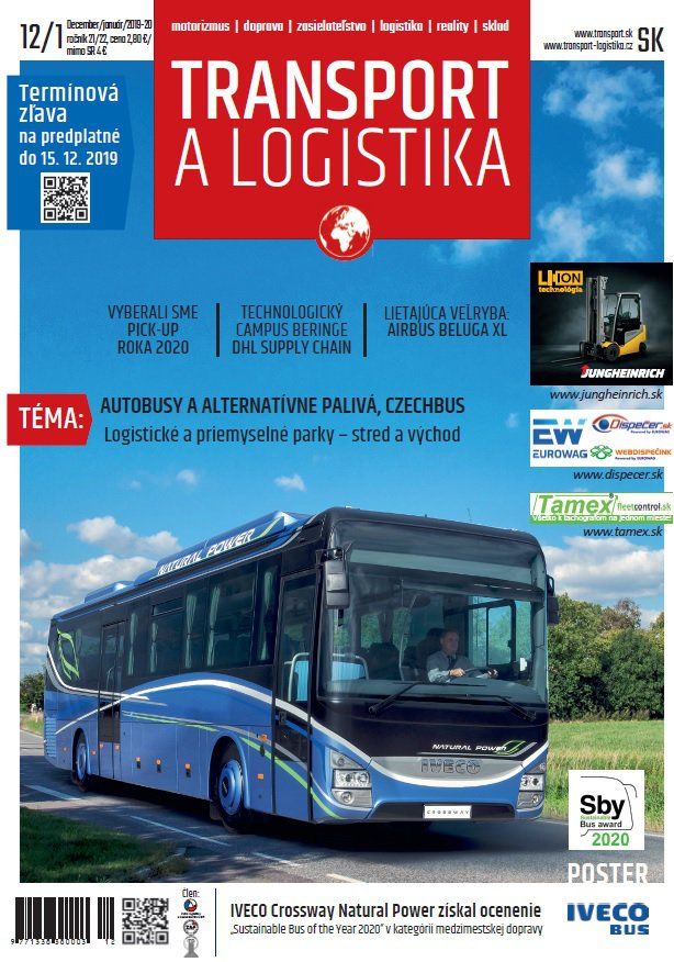 Magazín TRANSPORT a LOGISTIKA - Vydanie 12-1/2019-2020 - Obálka