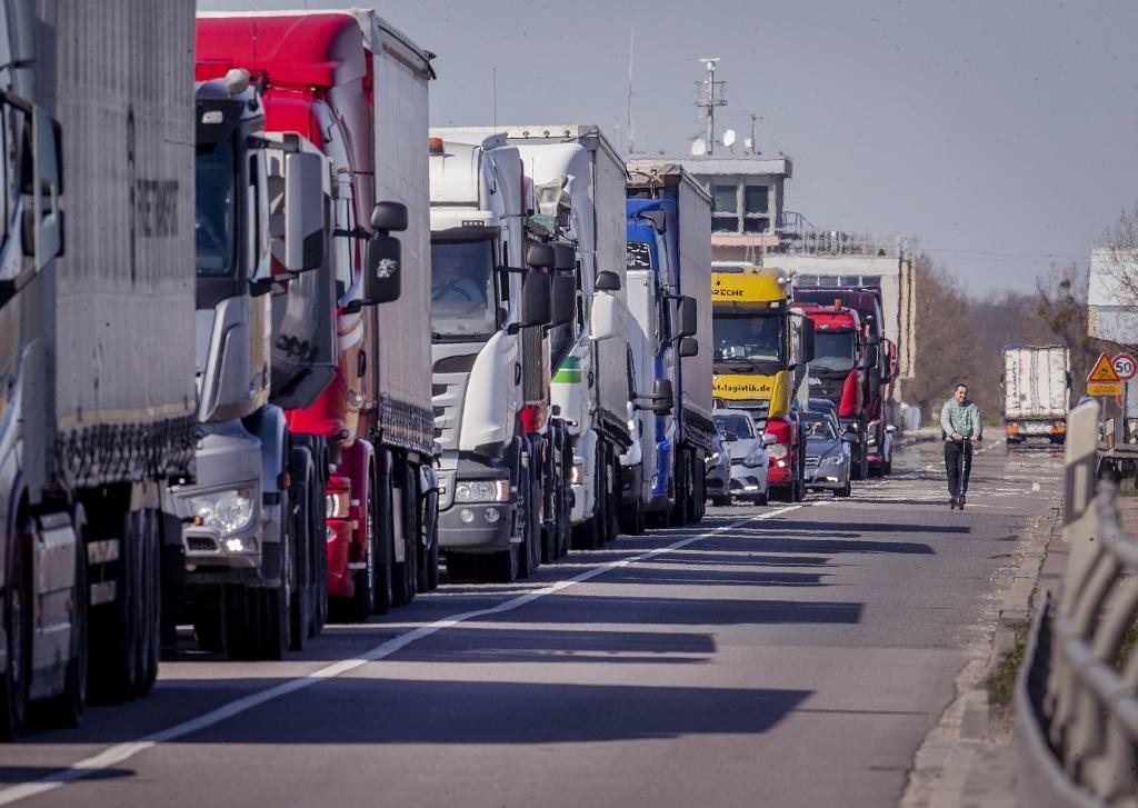 Kolóna kamiónov v Nemecku
