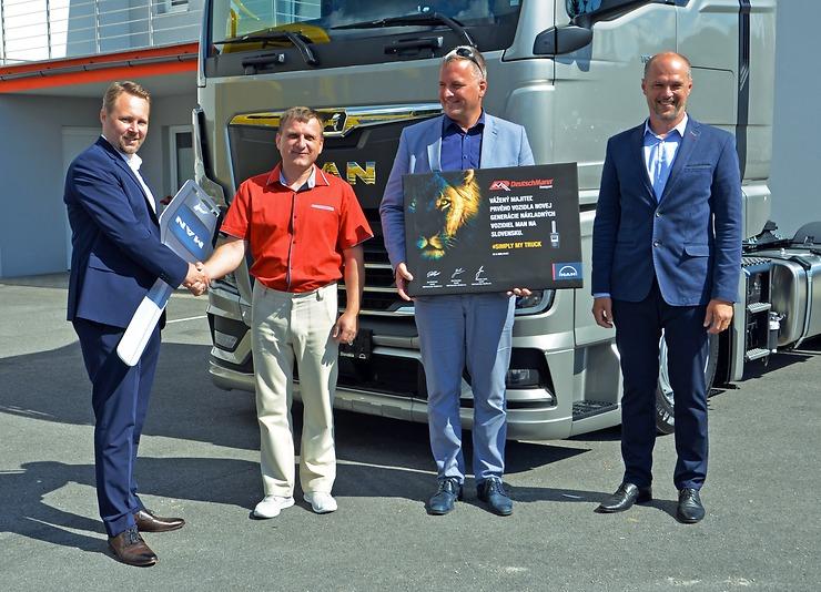 Odovzdanie nového vozidla MAN TGX slovenskému zákazníkovi, spoločnosti DeutschMann